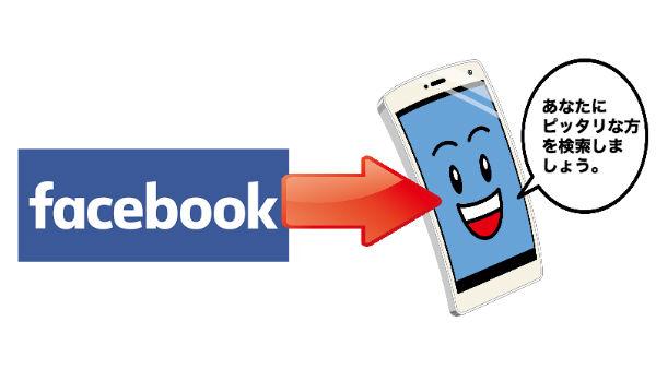 フェイスブック経由でアプリダウンロードするイメージ