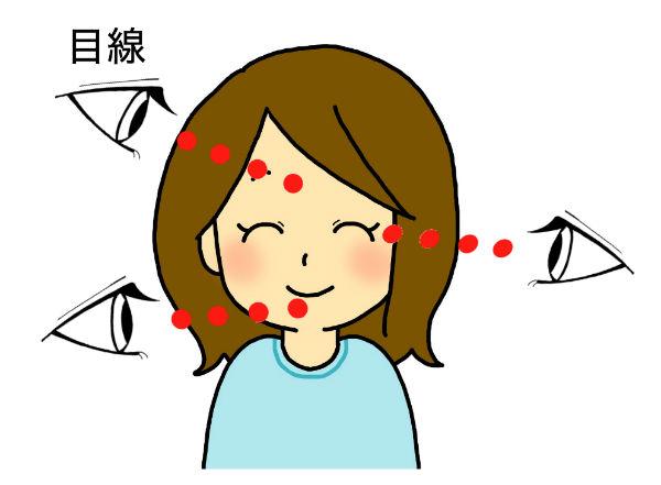 目線のポイント図