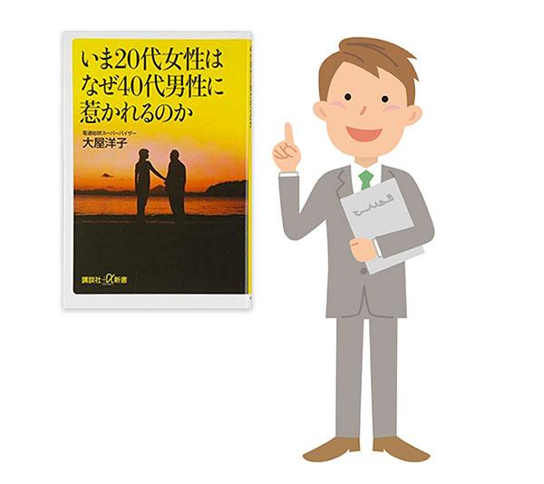 本を紹介している男性