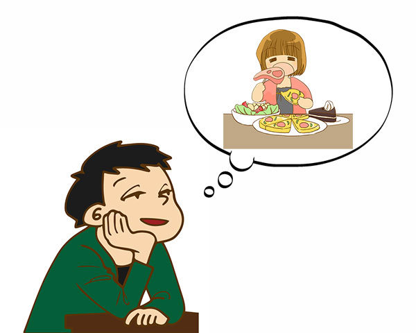肥満女性の食べっぷりに魅力を感じる男性