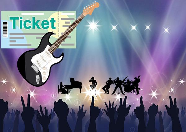 コンサートとチケット