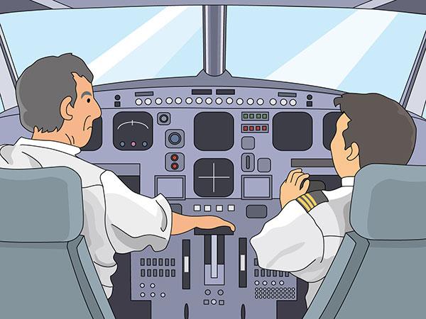 旅客機のコクピット