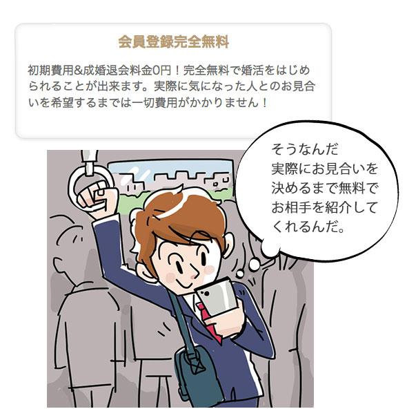電車の通勤時にペット婚を閲覧している男性