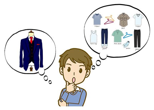 デイトの前に服装をイメージしている婚活男性